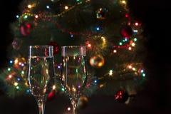 Vidros com champanhe Fotos de Stock Royalty Free