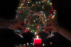 Vidros com champanhe Foto de Stock