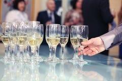 Vidros com champanhe Imagens de Stock