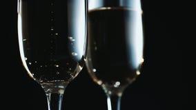 Vidros com champanhe video estoque