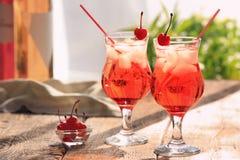 Vidros com cocktail do tequila Foto de Stock Royalty Free
