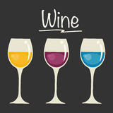 Vidros com seleções do vinho Fotos de Stock