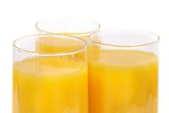 Vidros com sumo de laranja Foto de Stock