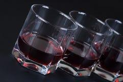 Vidros com uma bebida Fotos de Stock Royalty Free