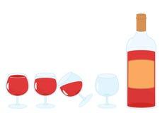 Vidros com vinho ilustração do vetor