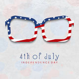 Vidros criativos do olho para 4ns da celebração de julho Fotografia de Stock