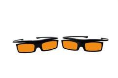 Vidros 3d amarelos Imagem de Stock Royalty Free