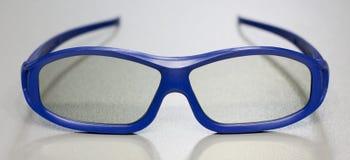 Vidros 3D azuis Foto de Stock