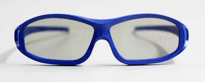 Vidros 3D azuis Imagens de Stock