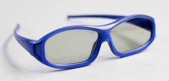 Vidros 3D azuis Fotografia de Stock