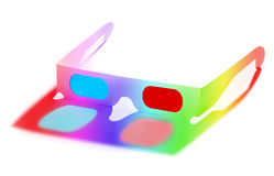 Vidros 3D coloridos Foto de Stock Royalty Free