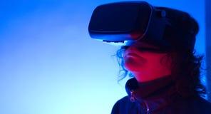 Vidros 3D modernos do smartphone VR 360 Imagens de Stock Royalty Free