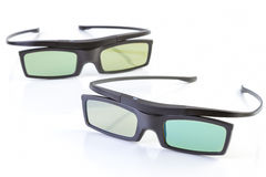 vidros 3D no branco Fotografia de Stock