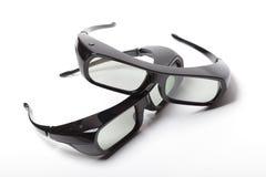 vidros 3D no fundo branco Foto de Stock