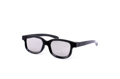 Vidros 3D pretos para filmes de observação Imagens de Stock