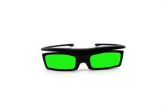 Vidros 3d verdes Imagem de Stock Royalty Free