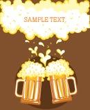Vidros da cerveja Foto de Stock