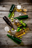 Vidros da cerveja Fotografia de Stock
