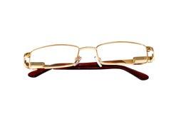 Vidros da cor do ouro para a vista maçante Fotografia de Stock Royalty Free