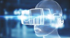 Vidros da realidade virtual Imagem de Stock