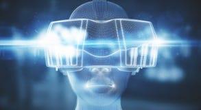 Vidros da realidade virtual Imagens de Stock