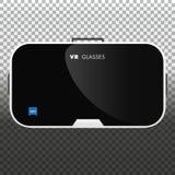 Vidros da realidade virtual Tecnologia de VR Ilustração do vetor Fotos de Stock Royalty Free