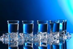 Vidros da vodca com gelo Imagens de Stock Royalty Free
