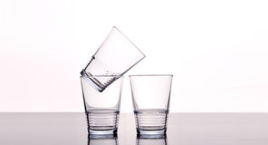 Vidros de água vazios Foto de Stock Royalty Free