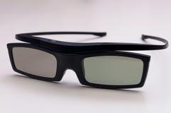 Vidros de alta qualidade do cinema 3D no branco Fotografia de Stock Royalty Free