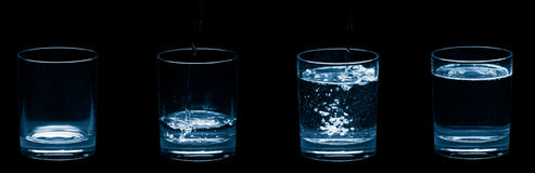 Vidros de bolhas da água Fotos de Stock