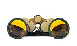 Vidros de campo binoculares isolados Foto de Stock Royalty Free