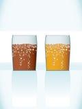 Vidros de cerveja Imagens de Stock