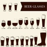 Vidros de cerveja Fotos de Stock