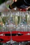 Vidros de Champagne Imagem de Stock