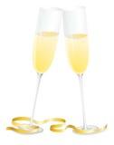 Vidros de Champagne Fotografia de Stock