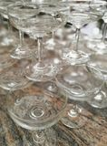 Vidros de Champagne empilhados Imagens de Stock Royalty Free