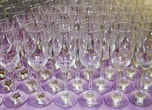 Vidros de Champagne II fotografia de stock