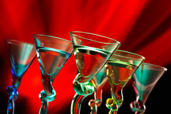 Vidros de cocktail Fotografia de Stock
