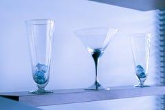 Vidros de cocktail azuis Fotos de Stock