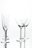 Vidros de Coctail e de Champagne imagens de stock royalty free