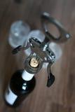 Vidros de garrafa do Corkscrew Imagem de Stock
