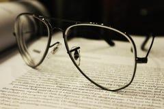 Vidros de leitura Imagem de Stock Royalty Free