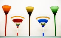 Vidros de Martini Fotografia de Stock Royalty Free