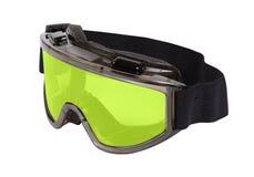 Vidros de segurança com lentes amarelas Fotografia de Stock