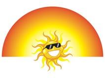 Vidros de sol desgastando de Sun ilustração do vetor