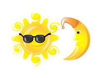 Vidros de sol dos ícones do tempo, vetor Fotografia de Stock