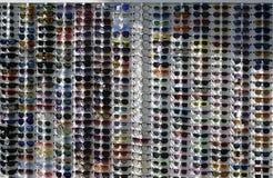 Vidros de sol grandes do muitos diferentes imagens de stock royalty free
