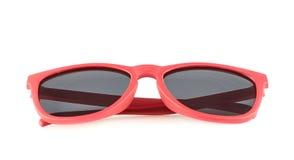 Vidros de sol vermelhos isolados Imagens de Stock