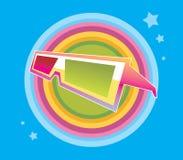 Vidros de Stereovision Ilustração do Vetor