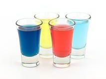 Vidros de tiro coloridos Imagens de Stock Royalty Free